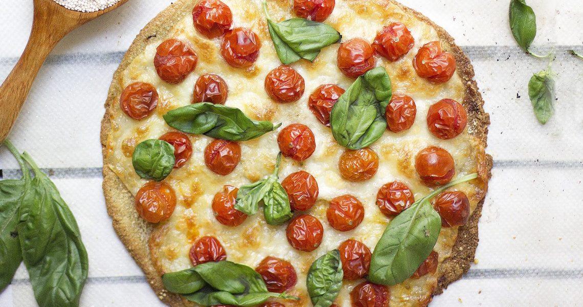 pizza sin gluten y saludable con quinoasure